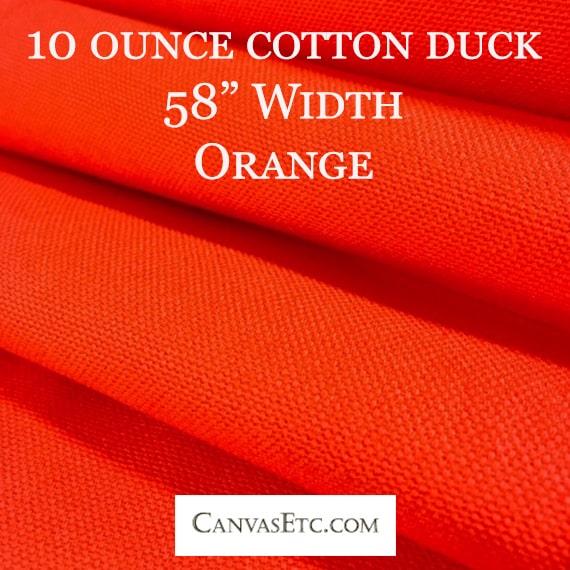 Orange Cotton Duck 10 ounce