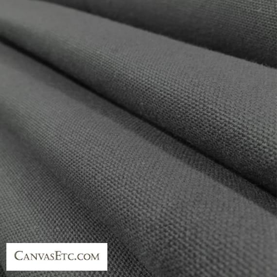 Smoke Grey 10 ounce cotton duck fabric