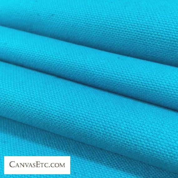 Waterfall Blue 10 ounce cotton duck fabric