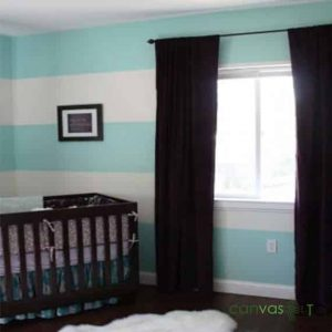 Blackout curtains in a nursery