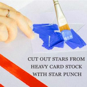 Cut out stars from heavy card stock