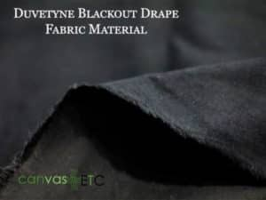 Duvetyne blackout fabric