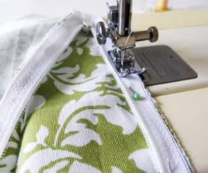 Sewing a zipper into your seat cushions
