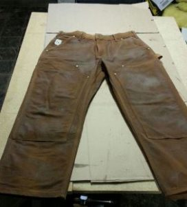 Tin cloth hunting pants and field gear