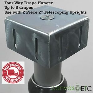 4 way drape hanger