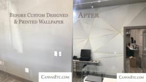 Before and after custom wallpaper