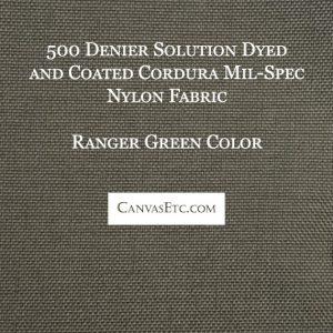 Ranger Green 500 Denier Cordura Nylon Fabric