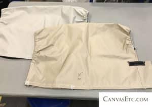 Drawstring bag made with 420 Denier Khaki Packcloth