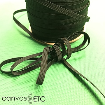 quarter inch elastic black