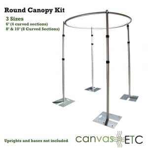 Round Drape Support Canopy