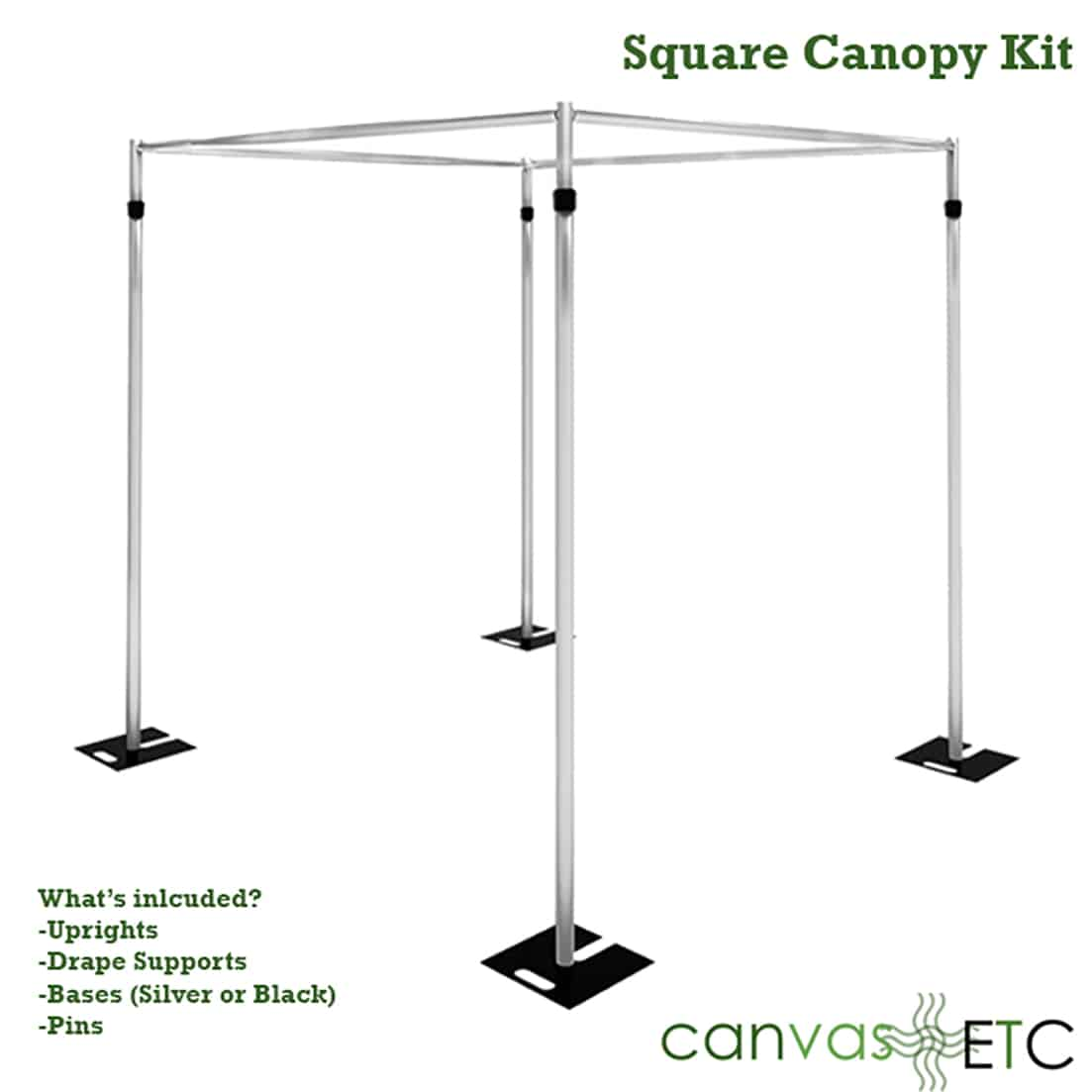 square canopy kit list