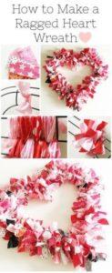 valentine's day crafts wreath canvas etc