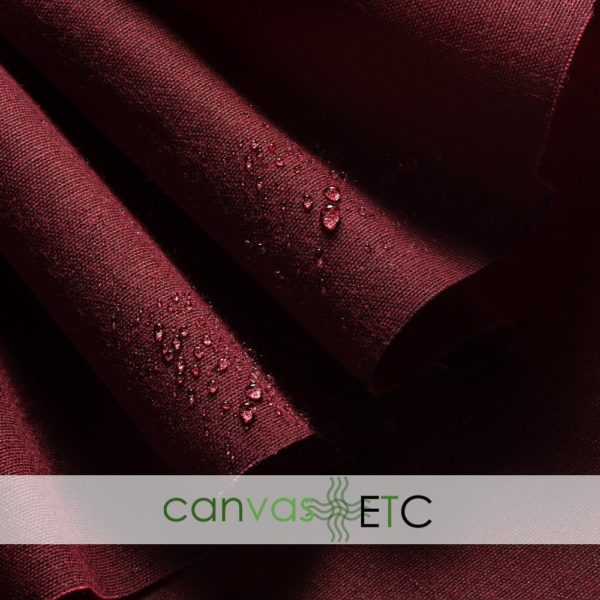 """Waxed Canvas - Shelter Tent Duck - Burgundy   60"""""""